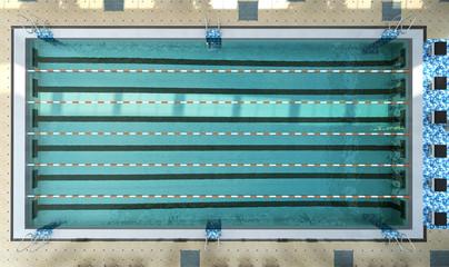 swimming pool interior 3d render image