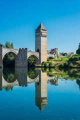 Pont Valentre in Cahors, France.