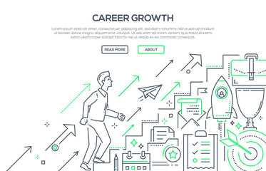 Career growth - modern line design style illustration