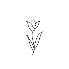 Tulip outline icon