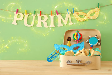 Purim celebration concept (jewish carnival holiday).