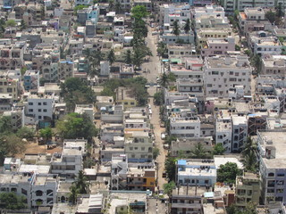Indian small city top view looking very good.