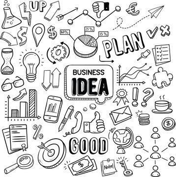 Business Idea doodles