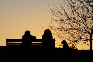 tramonto al parco