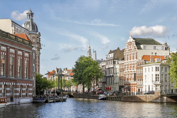 Canal And Old Buildings From Amsterdam, Netherlands