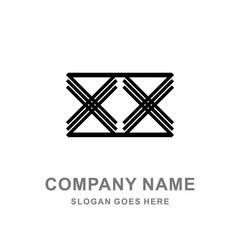 Company Black Logo Vector Icon Symbol Sign Modern Cross X
