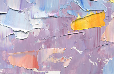 Highly-textured colorful abstract painting background.  Oil paint. Texture palette knife.