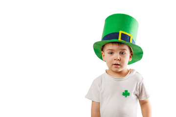 Little boy with Leprechaun hat