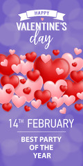 Happy Valentines Day Best Party Lettering