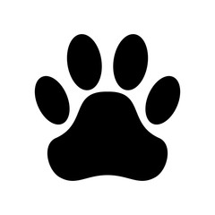 Paw print. Vector illustration.