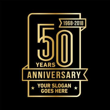 50th anniversary logo. Vector and illustration.