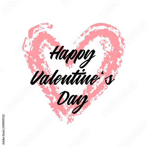 Happy Valentine\'s Day vector graphic. Valentine\'s Day design for ...