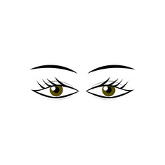 Eyes woman cartoon sign