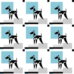 Vector pattern of stylized Airedale Terrier