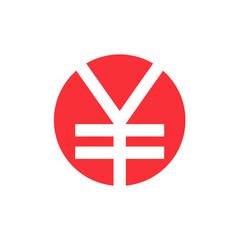 Japanese yen symbol. Vector illustration