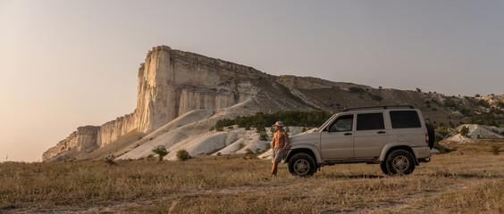 Beauty nature landscape, traveling on car concept