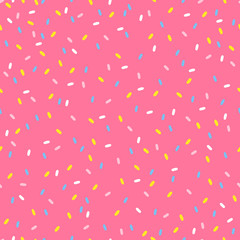 Seamless pattern with sprinkles topping in pastel colors