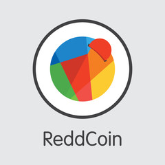 ReddCoin Cryptocurrency - Vector Colored Logo.