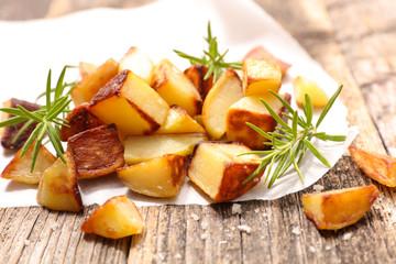 fried potato and rosemary