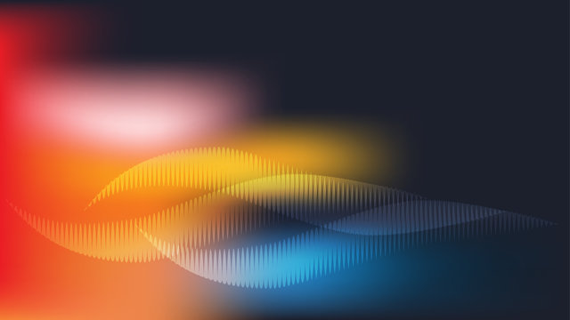 Digital colorful sound wave abstract background