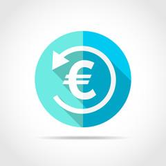 Back cash icon. Vector illustration.