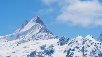 Alps mountains view from Grindelwald First, Switzerland, May 2017