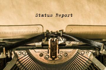 printed word on a vintage typewriter. writer. office. finance.