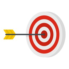 Perfection target icon. Flat illustration of perfection target vector icon for web