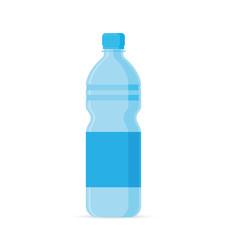 Water bottle flat style