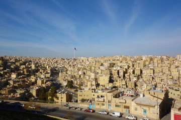 Panorama of the city of Amman, Jordan, Middle East