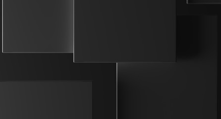 3D Rendering Of Abstract Background With Rectangles