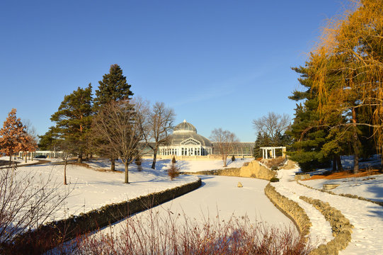 Como Zoo and Conservatory in St. Paul, Minnesota during winter