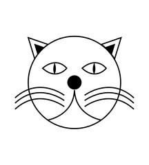 Cat head illustration