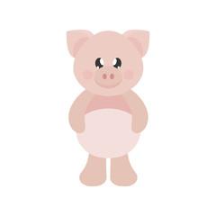 cartoon cute pig