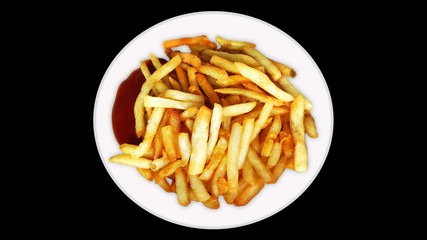 french fries, chips collateral fat highest calorie and sodium, fat, unhealthy, fast food