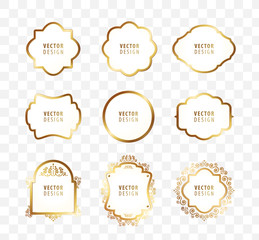 Set of High Quality Luxury Frame on Transparent Background . Vector Isolated Illustration