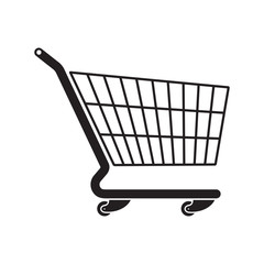 Shopping cart flat style icon for your design
