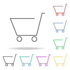 Shopping Cart colored icons. Element of logistic multi colored icon for mobile concept and web app. Thin line icon for website design and development, app development. Premium icon