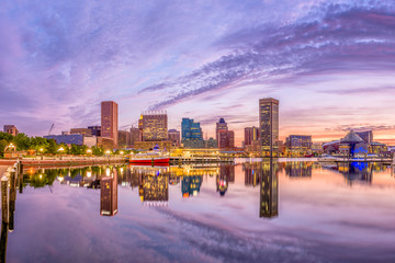 Baltimore, Maryland, USA Skyline