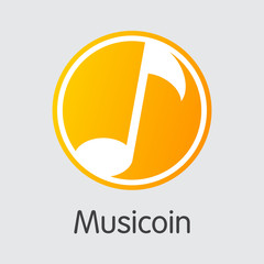 Musicoin Cryptocurrency - Vector Colored Logo.