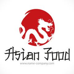 logo dragon restaurant asiatique japonais chinoise thaïlandaise wok