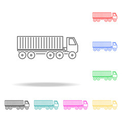 Container Truck colored icons. Element of logistic multi colored icon for mobile concept and web. Thin line icon for website design and development, app development. Premium icon