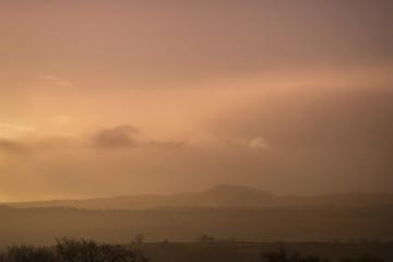 Sunrise Winter Rural Landscape