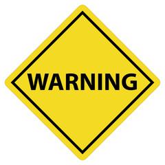 warning sign on white background. warning symbol. flat style. warning tag.