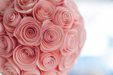 Mobile paper roses