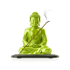 Buddha with a incense stick