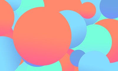 Artful background with bubbles. Gradient colors