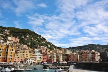 Camogli harbor, Liguria, Italy