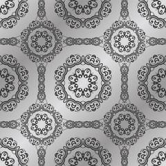 Vintage seamless pattern. Damask wallpaper