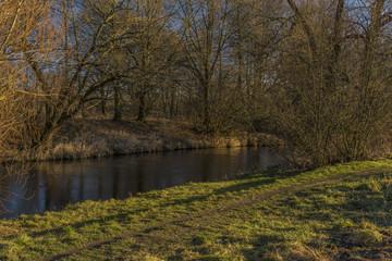 Malse river near Ceske Budejovice city